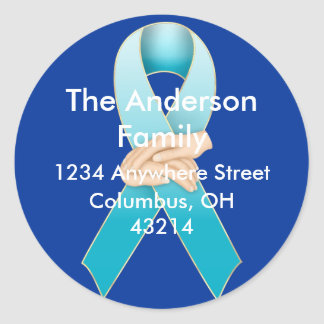 Addiction Recovery Awareness Return Address Labels Classic Round Sticker