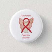 Addiction Recovery Awareness Ribbon Angel Pin