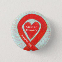 Addiction Recovery Awareness Ribbon Custom Pin