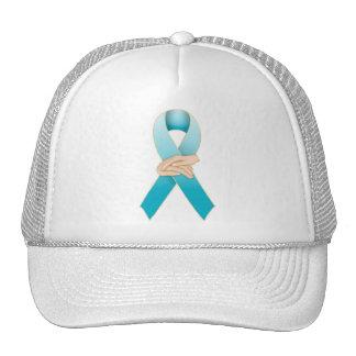 Addiction Recovery Awareness Ribbon Design Trucker Hat