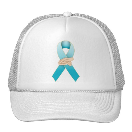 Addiction Recovery Awareness Ribbon Design Trucker Hat