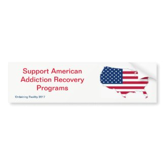 Addiction Recovery Bumper Sticker