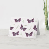 Addiction Recovery Encouragement with Butterflies Card