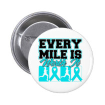 Addiction Recovery Every Mile is Worth It 2 Inch Round Button