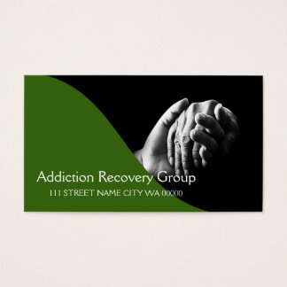 Addiction Recovery Group Counseling Business Card