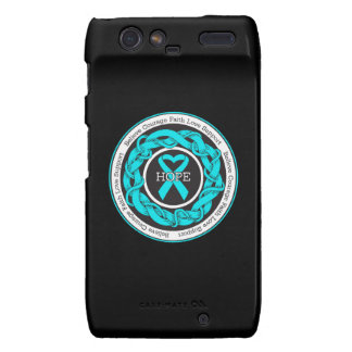 Addiction Recovery Hope Intertwined Ribbon Motorola Droid RAZR Case