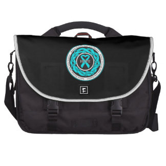 Addiction Recovery Hope Intertwined Ribbon Laptop Bag