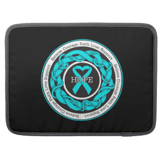 Addiction Recovery Hope Intertwined Ribbon MacBook Pro Sleeves