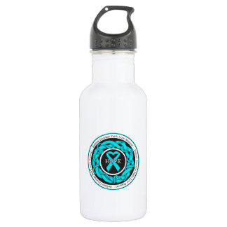Addiction Recovery Hope Intertwined Ribbon 18oz Water Bottle