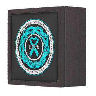 Addiction Recovery Hope Intertwined Ribbon Premium Jewelry Boxes