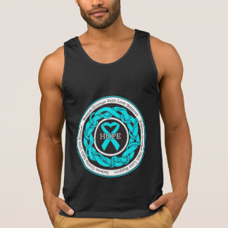 Addiction Recovery Hope Intertwined Ribbon Tank Tops
