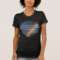 Addiction Recovery Inspirational Quote Rainbow T-Shirt