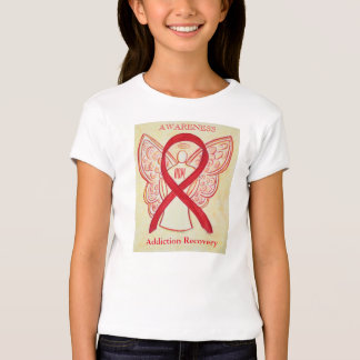 Addiction Recovery Red Awareness Ribbon Shirt
