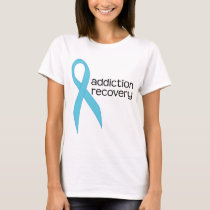 Addiction Recovery Ribbon Womens Tee Shirt