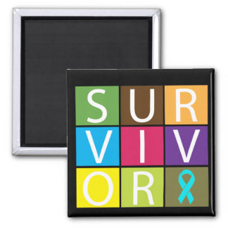 Addiction Recovery Survivor 2 Inch Square Magnet