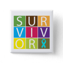 Addiction Recovery Survivor Pinback Button