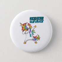 ADDICTION RECOVERY Survivor Stand-Fight-Win Button
