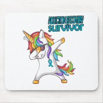 ADDICTION RECOVERY Survivor Stand-Fight-Win Mouse Pad