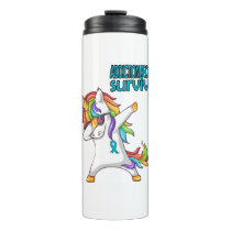ADDICTION RECOVERY Survivor Stand-Fight-Win Thermal Tumbler