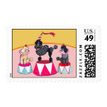 Addie's Circus Poodles Postage Stamps