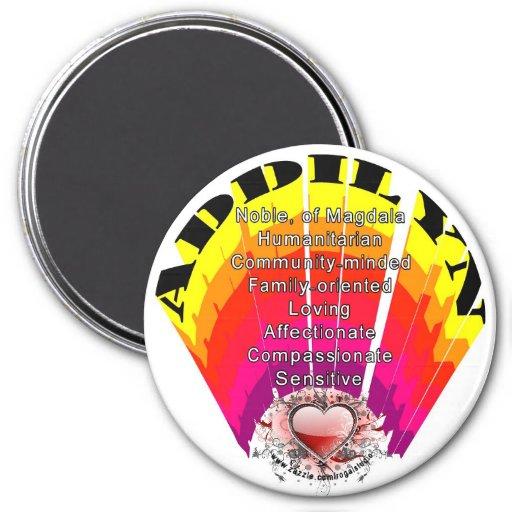 ADDILYN Girl Name on Round Magnet