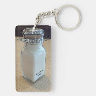 Adding A Pinch Of Salt Keychain