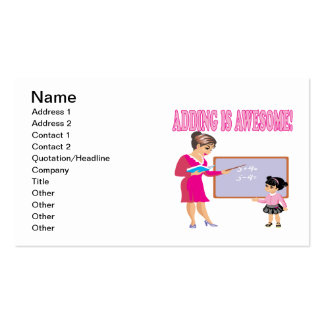 Adding Is Awesome 2 Business Card
