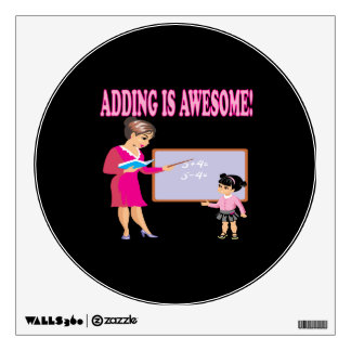 Adding Is Awesome 2 Wall Sticker