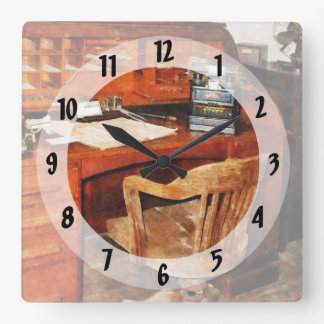 Adding Machine Square Wall Clock
