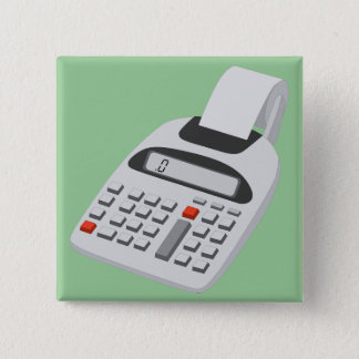 Adding Machine - Vintage Accountant Technology Pinback Button