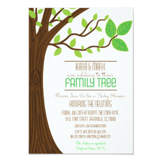 Adding to their Family Tree Baby Shower Invitation