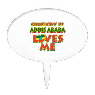 Addis Ababa City Designs Cake Topper