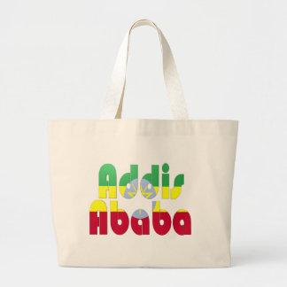 Addis Ababa, Ethiopia Large Tote Bag