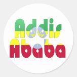 Addis Ababa, Etiopía Etiquetas Redondas