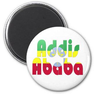 Addis Ababa, Etiopía Imán Redondo 5 Cm