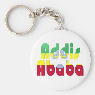 Addis Ababa, Etiopía Llavero Redondo Tipo Pin