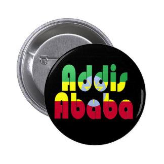Addis Ababa, Etiopía Pin Redondo De 2 Pulgadas
