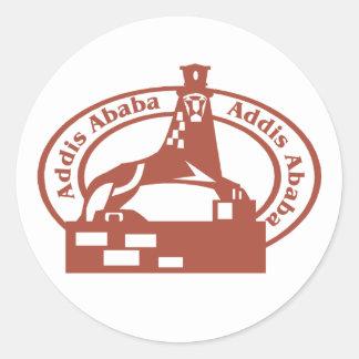 Addis Ababa Stamp Classic Round Sticker