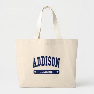 Addison Illinois College Style t shirts Canvas Bag