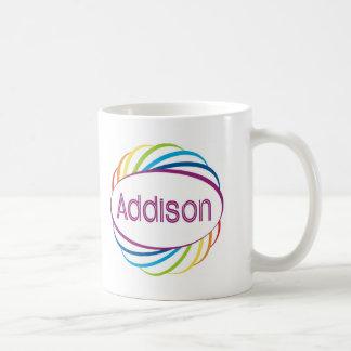 Addison  in rainbow happy frame coffee mug