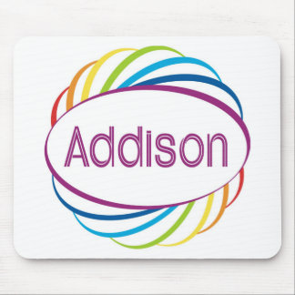 Addison  in rainbow happy frame mouse pad