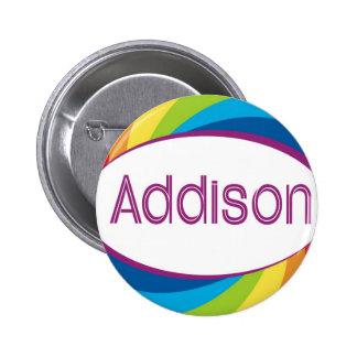 Addison in rainbow pin