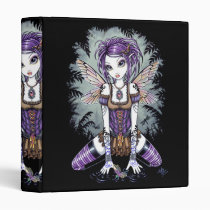 dragonfly, tattoo, fairy, faery, faerie, fae, fairies, fantsy, violet, purple, brown, art, myka, jelina, dragonflies and damselflies, Binder with custom graphic design