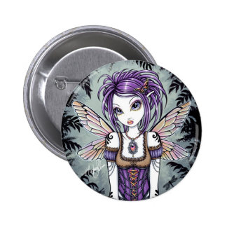 """Addison"" Misty Dragonfly Fairy Button"
