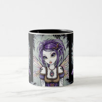 dragonfly, monarch, fairy, mug, myka, jelina, fae, faerie, faery, pixie, nature, water, rainbow, purple, emo, gothic, fantasy, art, characters, Mug with custom graphic design