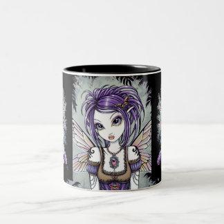 """Addison"" Misty Dragonfly Fairy Mug"
