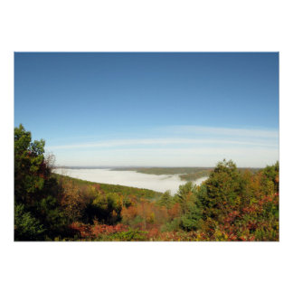 Addison Pinnacle Foggy Valley View Poster