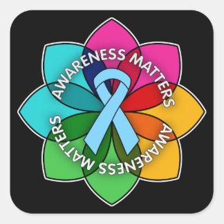 Addison's Disease Awareness Matters Petals Square Sticker