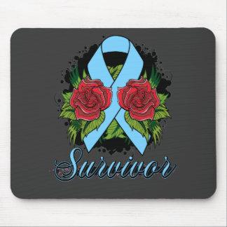Addison's Disease Survivor Rose Grunge Tattoo Mouse Pad