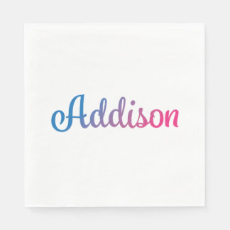 Addison Stylish Cursive Paper Napkin